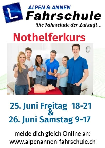 Nächster Nothelfer 25 - 26 juni